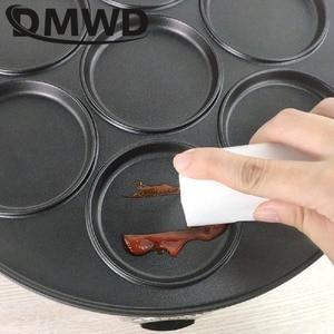 Image 4 - DMWD 7 trou poêle électrique omelette poêle pour oeufs jambon poêle gâteau fabricant poêles antiadhésive petit déjeuner Grill poêle marmite EU