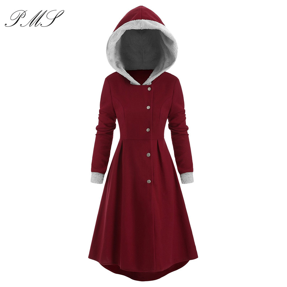 Women Winter Warm Coat Female Autumn Hooded Cotton Hooded Long Sleeve Coat Basic Jacket Outerwear Slim Long Ladies Chaqueta D25