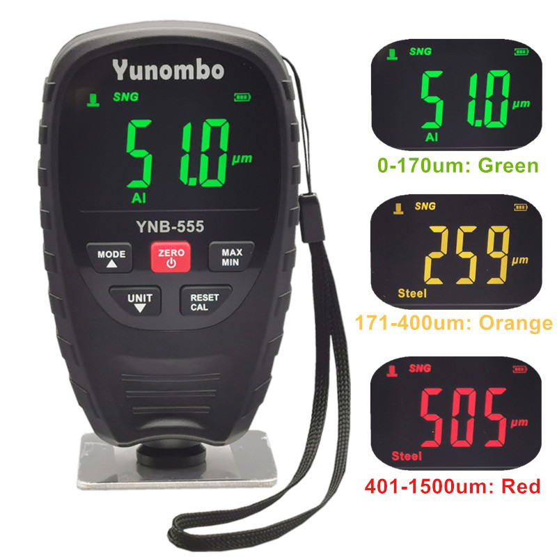 2021 New Release Yunombo YNB 555/YNB 555R Film Thickness Meter Car Galvanized Paint Thickness Gauge Coating Thickness Gauge