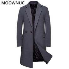 Mens Coats Male Woollen Overcoat Winter Autumn Fashion Long Business Smart Casual Thick Blends Brand Clothes MOOWNUC MWC