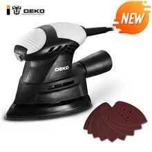 DEKO DKMS01 130 Вт шлифовальный станок для мыши с 9 листами наждачной бумаги пыли выхлопа