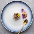 Креативная керамическая тарелка KINGLANG  Скандинавское блюдо  тарелка для стейка  тарелка для стейка  чаша для риса  желтая Синяя тарелка