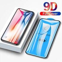 زجاج حماية 9D لهاتف آيفون 6 6S 7 8 plus X XS 12 mini 11 pro MAX Glass on IPhone 7 8 XR XS X 11 12 Pro MAX واقي شاشة