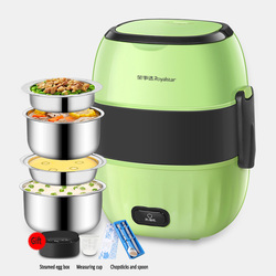 4th floor Electric lunch box Rice cooker Insulation box Portable Pluggable Hot meal With sealing cover 304 stainless steel