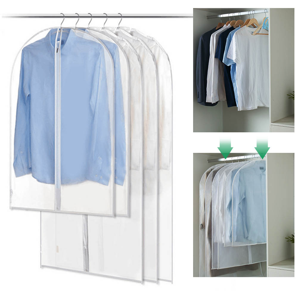 Clothes Hanging Garment Dress Clothes Suit Coat Dust Cover Home Storage Bag Pouch Case Organizer Wardrobe Hanging Clothing