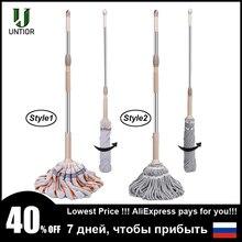 Mopa giratoria de microfibra UNTIOR, fregonas mágicas de limpieza de suelo sin manos, mopas antipolvo con repuesto extraíble, cabeza de mopa
