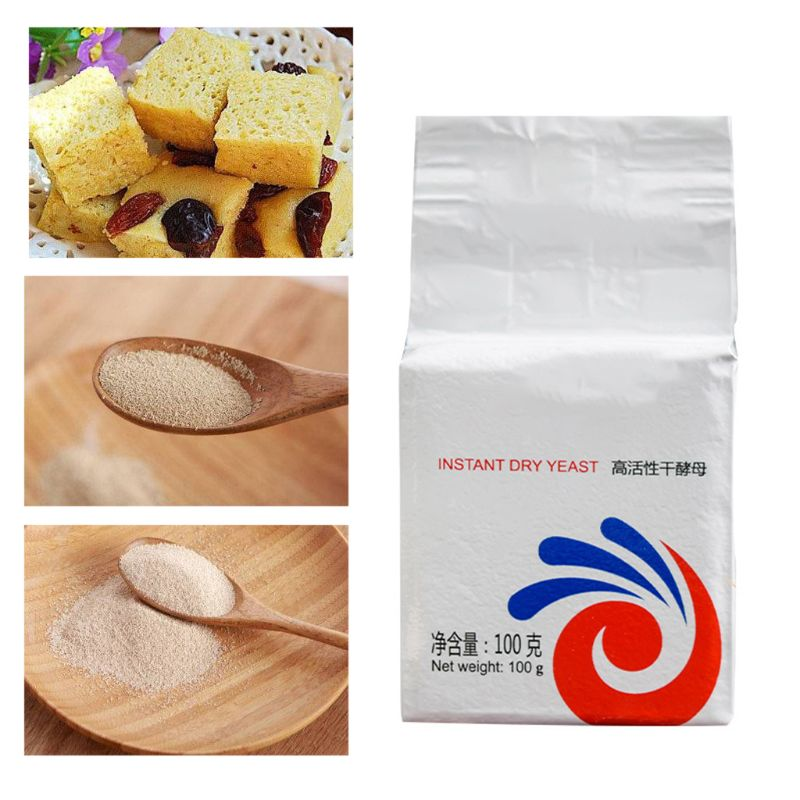 100g Highly Active Instant Dry Yeast For Bread Buns DIY Kitchen Baking Powder Supplies Household Instant Dry Yeast  Bread Yeast