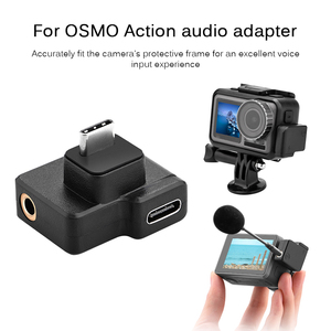 Image 5 - 3.5mm Microphone Audio Adapters USB Type C Male to Female Classic Colors Simple Enduring for DJI OSMO ACTION