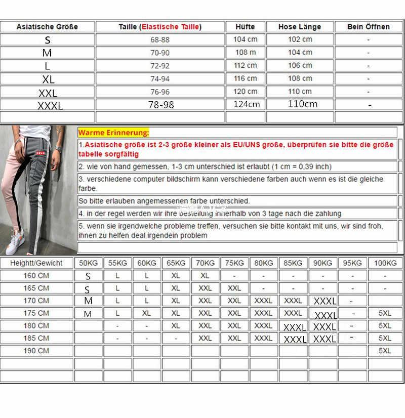 2019 NEUE Schwarz und Weiß Streifen Herren Jogger Casual Hosen Fitness Männer Sportswear Trainingsanzug Böden Dünne Jogginghose Hosen