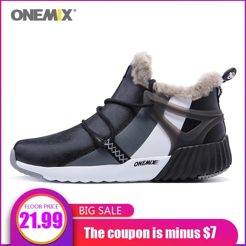 Snow-Boots Mountain-Shoes Onemix Trekking Waterproof Winter Men Anti-Slip Comfortable