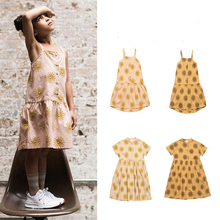Summer 2020 new girl dress fashion print strapless suspender skirt girl top dress for girls princess dress kids dress girls geometric print top with solid skirt