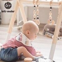 1pc Baby Wooden Gym Nordic Baby Room Decor Wooden Ring Pull Multi Bracket Montessori Rattle Children'S Goods Nurse Gift