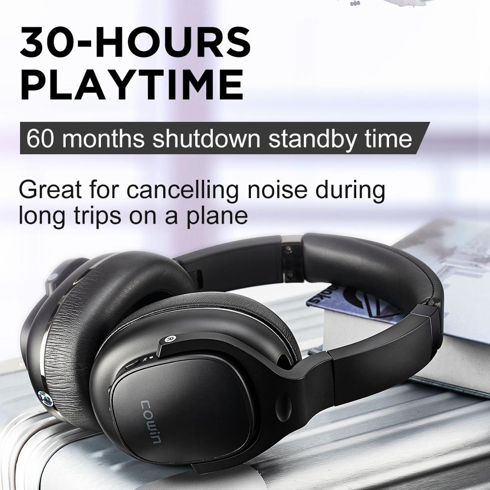 COWIN E9 Active Noise Cancelling Headphones Bluetooth Headphones Wireless Headset Over Ear with Microphone Aptx HD sound - 5