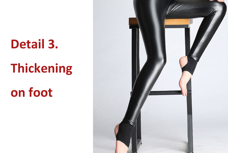 BGTEEVER Spring Autumn Winter Soft PU Leather Pant Women Velvet Pants Warm Stretch Skinny Trousers Pencil Leather Leggings 27