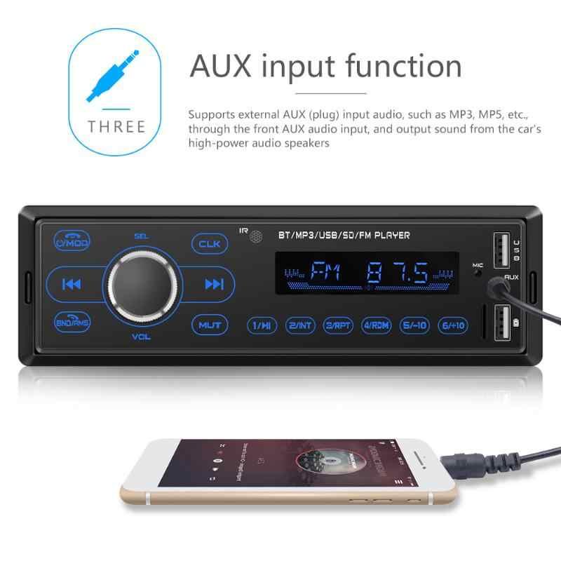 1 DIN Touch Screen สเตอริโอ MP3 เครื่องเล่นบลูทูธวิทยุ FM ใน Dash HEAD Unit AUX Digital Media