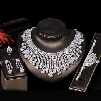 ASNORA Luxury Bridal Wedding Jewelry Set CZ Women's Jewelry Set Dubai Nigeria Nigeria First Choice Accessories for Wedding T0856