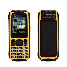 """최고의 하나의 방수 보조베터리 휴대 전화 1.8 """"긴 대기 손전등 큰 스피커 듀얼 SIM 수석 야외 견고한 휴대 전화"""