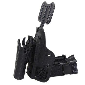 Tactical Drop Leg Gun Holster for BERETTA M92 Glock 17 19 CZ75 TAURUS PT840 HK USP SIG SAUER 226 Holster Pistol Airsoft Platform 4
