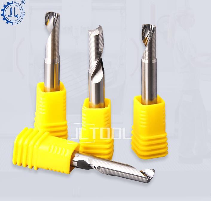 1Pcs 3.175//4//5//6mm Single Flute Milling Cutters for Aluminum CNC Tools
