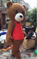 Werbung Teddy Bär Maskottchen Kostüm Anzüge Cosplay Party Spiel Kleid Outfits Kleidung Werbung Karneval Halloween Erwachsene