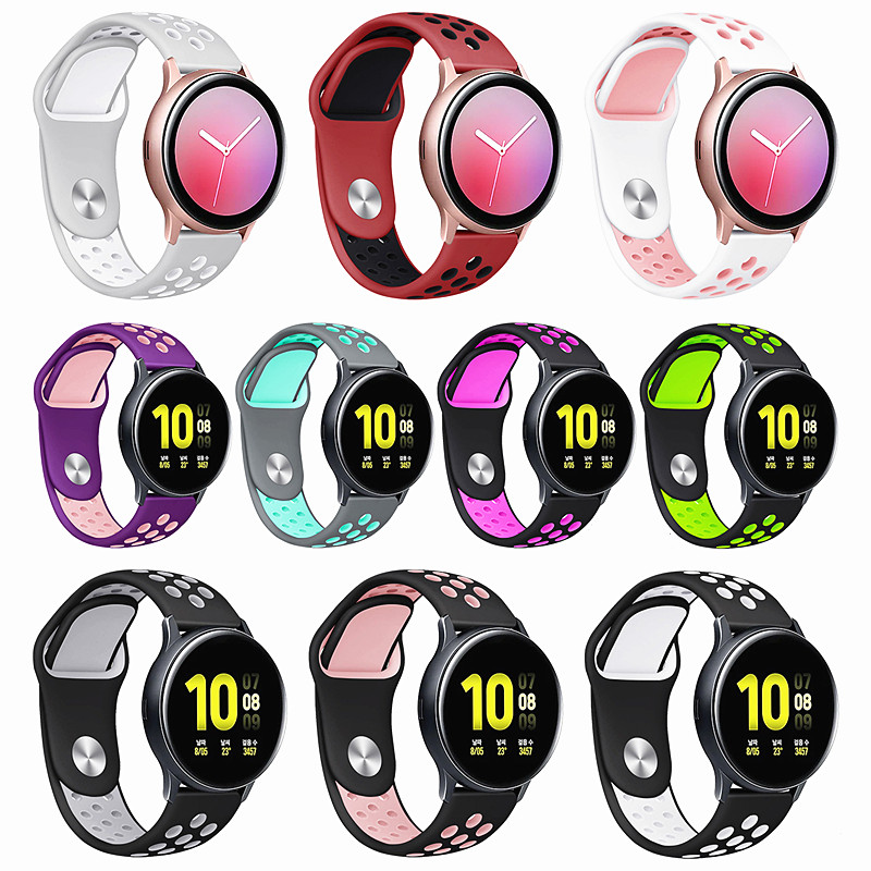 Sport <font><b>Bracelet</b></font> for Samsung Galaxy Watch Active 2 44mm <font><b>Band</b></font> Stainless Steel <font><b>20mm</b></font> for Galaxy Active 2 Strap 40mm Watchcase Cover image