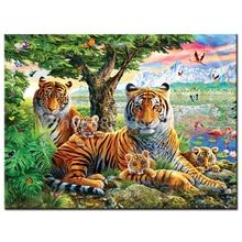 цена на Art 5D Diy Diamond Painting Animal tiger Diamond Pictures Cross Stitch 3D Rhinestone Embroidery Decor