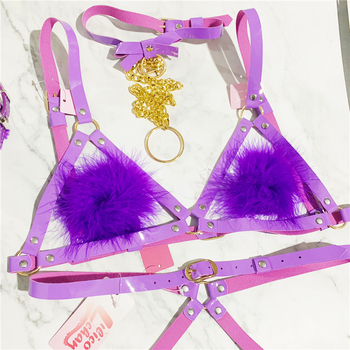 Cosplay Lolita Kawaii Handmade Sexy Harajuku Leather Elastic Garter Belts Waist Garters handcuffs Harness for Dress Costume BDSM 6