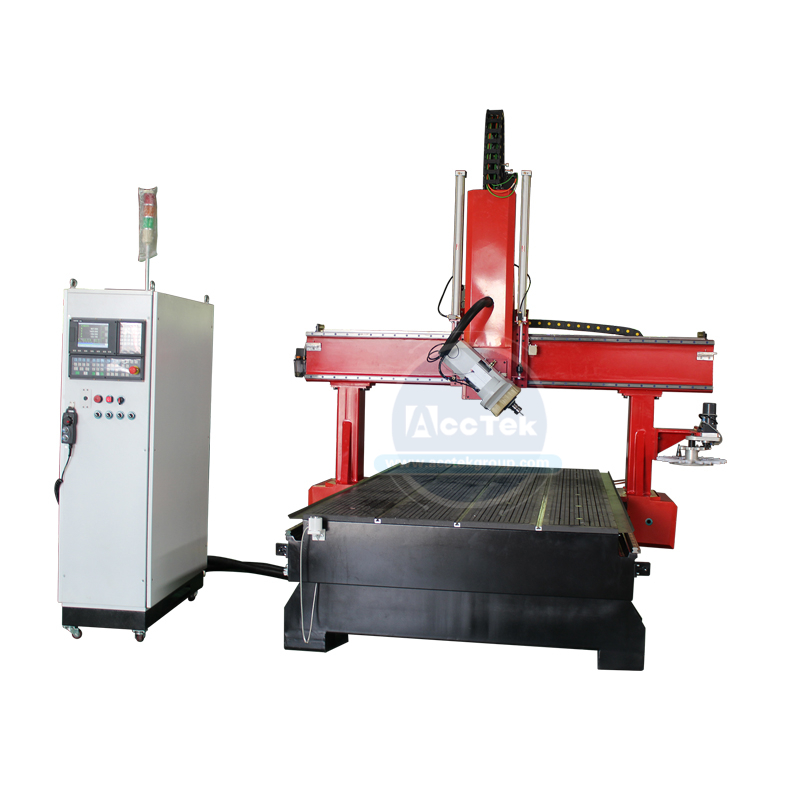 4 Axis Cnc High Quality With 9.0kw Italian HSD Air Cooling Spindle Cnc Wood Engraving Router Machine