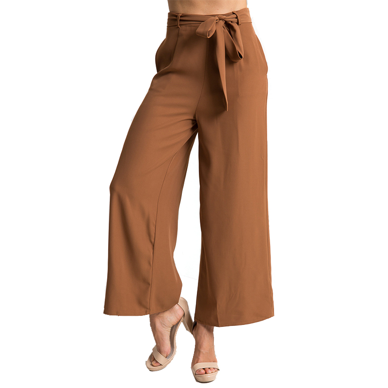 Echoine Wide Leg Pants For Women Loose Mid-rise Waist Trousers Half-length Sexy Cropped Female Position Streetwear Plus Size