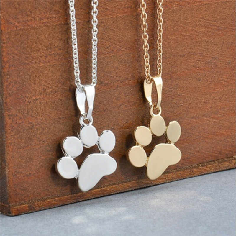かわいい繊細なステートメントネックレスチョーカーネックレス Tassut 猫と犬足跡動物ジュエリー女性ペンダント