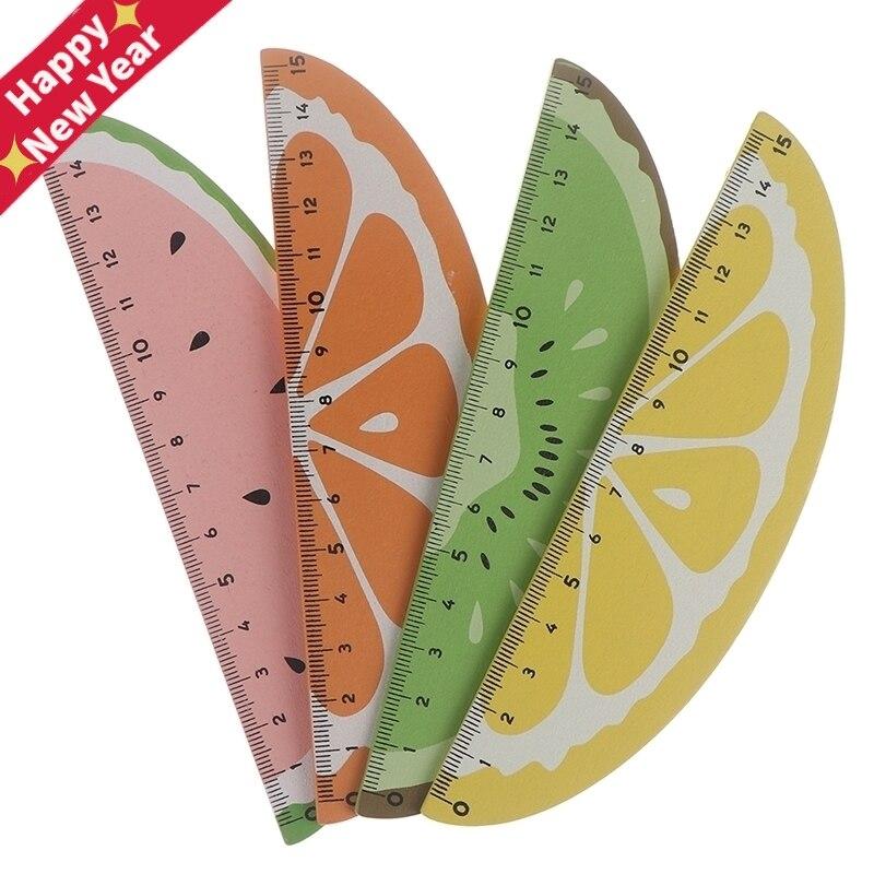 Fruit Ruler 15cm Kawaii Plastic Ruler Creative Fruit Ruler For Kids Student Novelty Item Korean Stationery