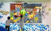 Software de proyección de juegos de pared interactivos para niños jugando