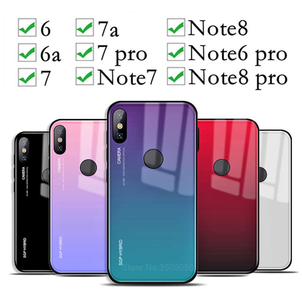 שיפוע טלפון מקרה על לxiaomi redmi note 8 פרו 6pro מזג זכוכית מקרי Ksiomi resmi 6 6a 7a 7pro לא 8 7 8pro יוקרה Coque