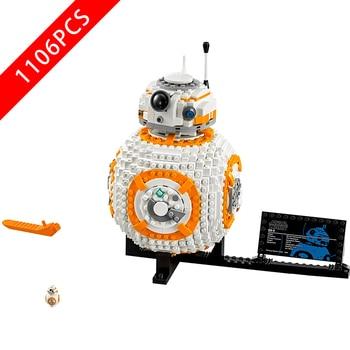 NEW StarWarsing  BB8 Star Wars Robot Set Genuine With lepinnglys Series 75187 Set Building Blocks Bricks Toys StarWars