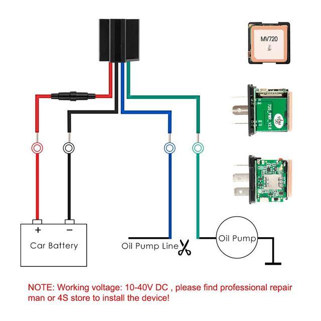 Mini GPS Relay GPS Tracker Car MV720 9-90V Cut Off Fuel Vehicle Tracker Vibrate Overspeed Alert Geofence Free APP PK CJ720 LK720 5