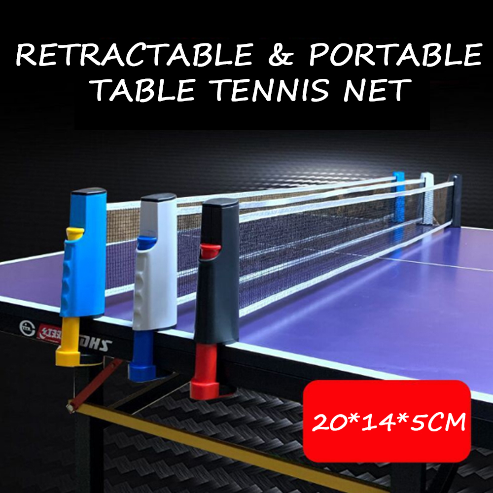 New Retractable Table Tennis Portable Net Ping Pong Grid Replacement Kit Table Bracket Sport Supplies Gym Universal Sports Bat