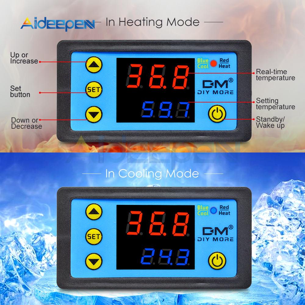 He27f693594d94602b650d6bd653b2566d W3230 AC 110V-220V DC12V 24V Digital Thermostat Temperature Controller Regulator Heating Cooling Control Instruments LED Display