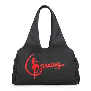 Image 1 - Jimnastik spor Yoga dans çantası kızlar için çanta Crossbody tuval büyük kapasiteli çanta kadın bale dans çantası yetişkin bale çanta