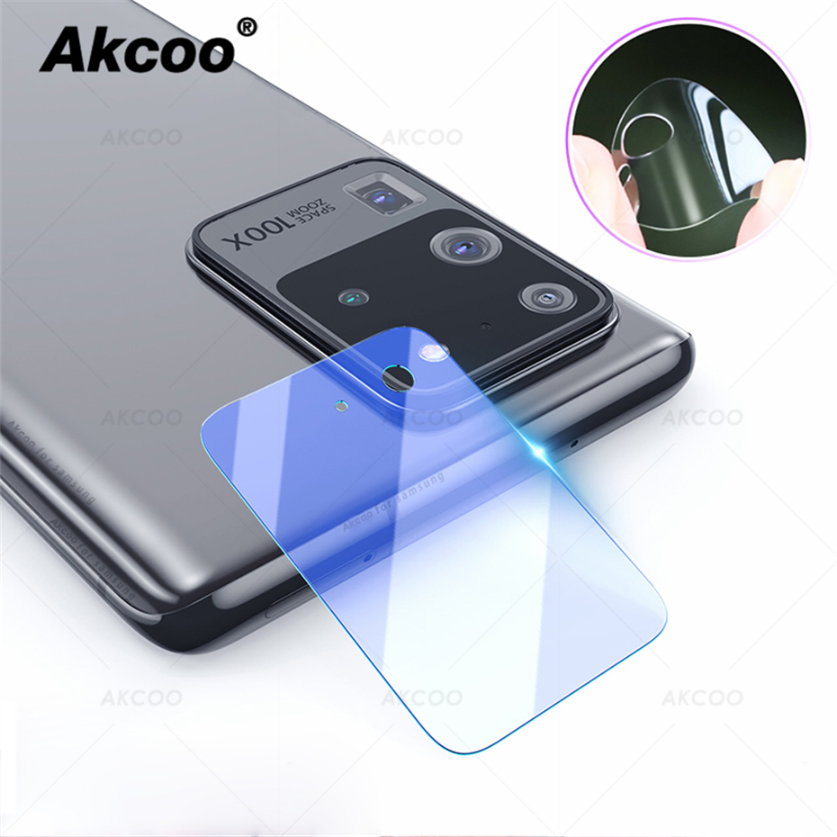 Akcoo S20 Anti-Scratch Flexible Glass Camera lens Protector HD Transmittance for Samsung Galaxy S20 Plus Camera 6
