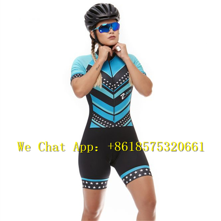 Women triathlon 2019 PRO TEAM aero suit Custom mtb Short Sleeve best quality cycling skinsuit race Cycling Clothing