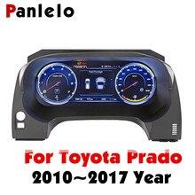 لوحة أجهزة Panlelo لوحة استبدال لوحة القيادة 12.3 بوصة الملاح مع أداة الكريستال السائل الكامل لتويوتا برادو SWC