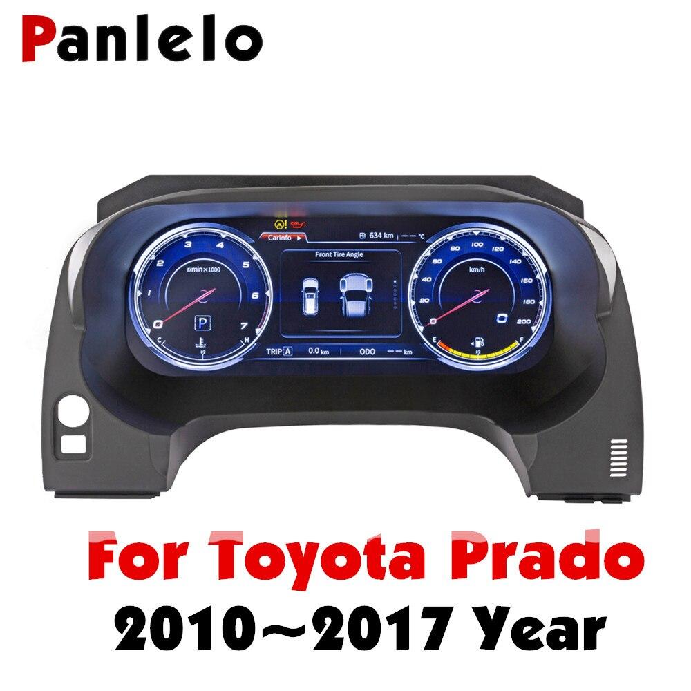 Panlelo Strumento di Sostituzione del Pannello Cruscotto Navigatore da 12.3 pollici con il Pieno di Liquido di Cristallo Strumento per Toyota Prado SWC