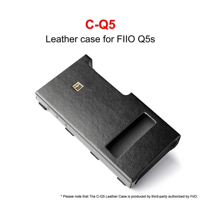 Étui en cuir C Q5 pour amplificateur FiiO USB DAC Q5 Q5S