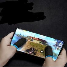Серебристые перчатки манжеты для мобильных игр серебристые пальцев