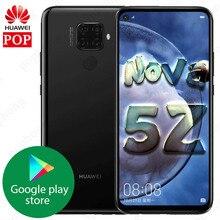 HUAWEI Nova 5z cep telefonu 6.26 inç Kirin 810 Ai Octa çekirdek 6GB 64GB Android 9.0 parmak izi kilidini hızlı şarj Google play