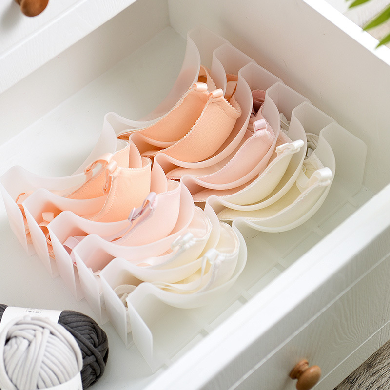 Wardrobe Drawer Organizer Divider Underwear-Boxes Storage-Rack Bra Stackable Combination-Bra title=