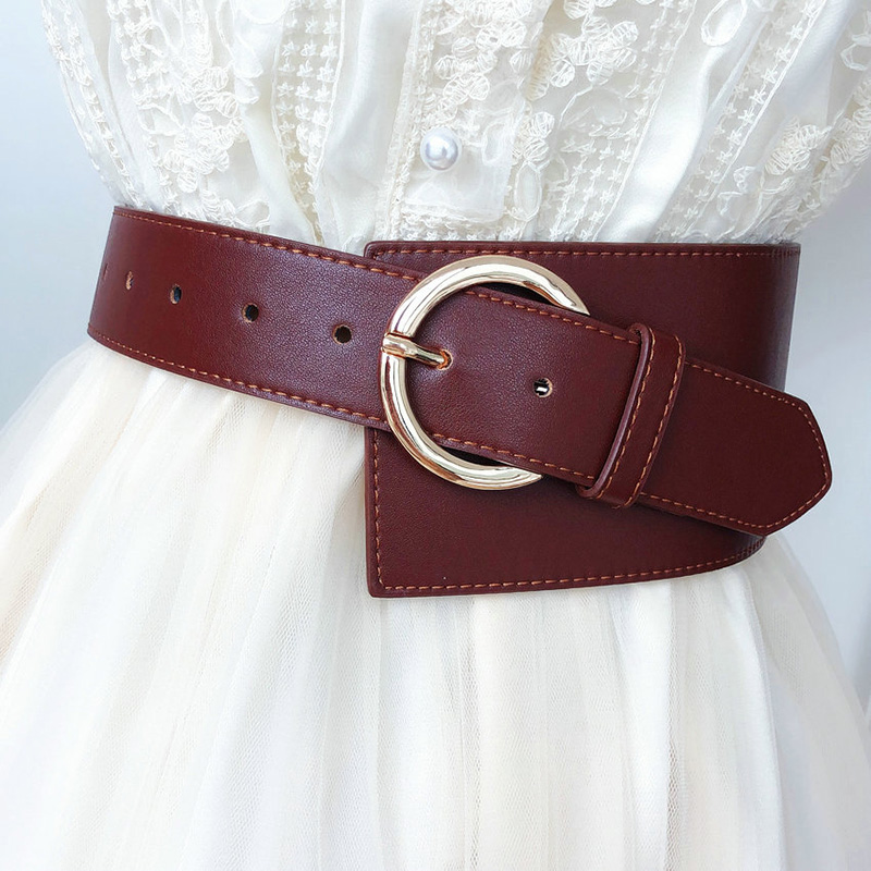 Vintage Faux Leather Clothing Belt Female Women's Clothes Accessories 2019 New Korean Style Wide Pu Belt