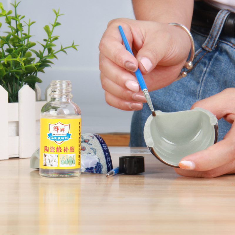 40g Ceramic Repair Glue Antique Porcelain Flower Pot Vase Clay Pot Cup Waterproof Seamless High Temperature  Resistance