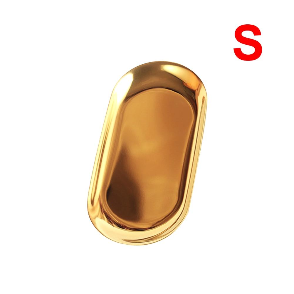 bandejas decorativas color dorado organizador de joyas unknow Jinliang bandeja de tocador Jabonera dorada de acero inoxidable para ba/ño