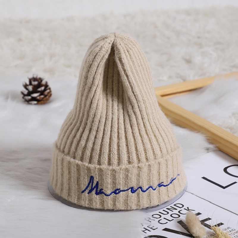 หมวกเด็กปักเด็กหมวกถักหมวกเด็กโครเชต์ Beanie ฤดูหนาวหมวกเด็ก